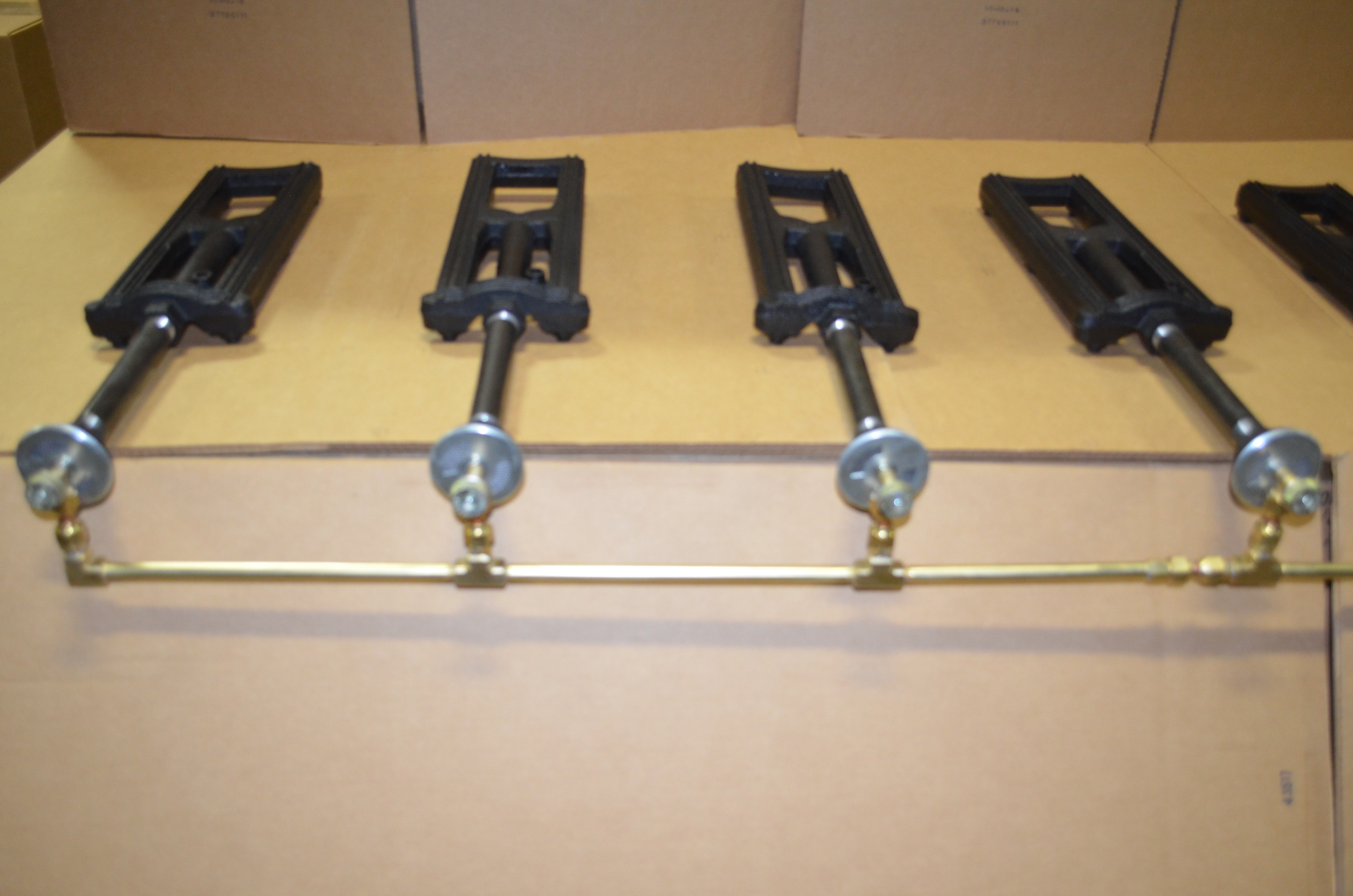 Multiple Burners with Custom Brass Manifold