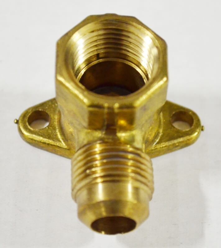 5Male Gas Flare x Female NPT Flanged 90° Ell