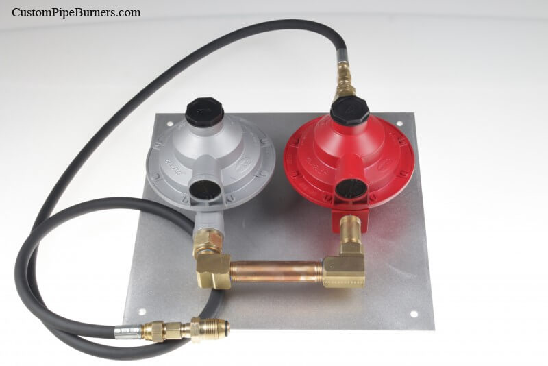 TS9209210 - First and Second Stage Low Pressure Regulator Assembly Mounted on Aluminum Panel