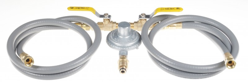 COM5-D Dual Hose, Dual Ball Valve, Low Pressure Regulator Assembly