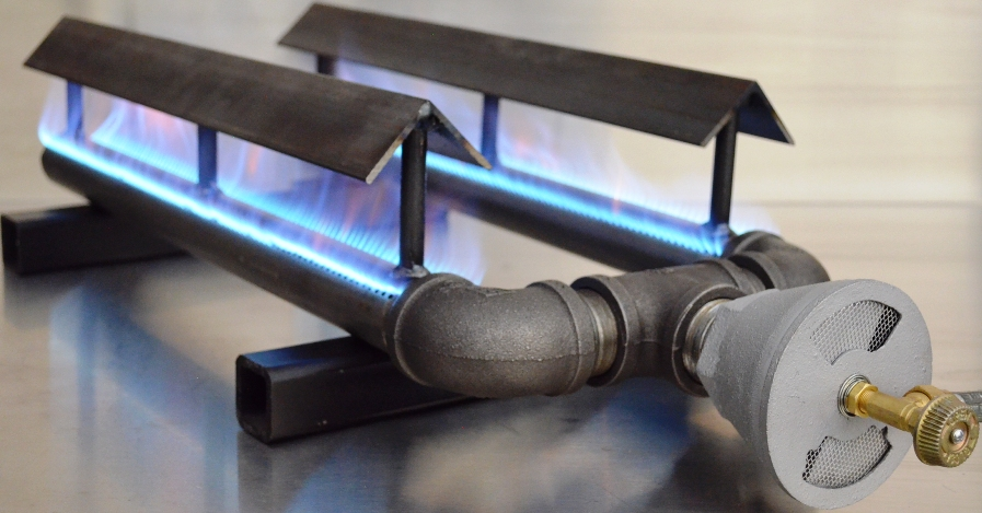Dual Pipe Burners with Grease Shields