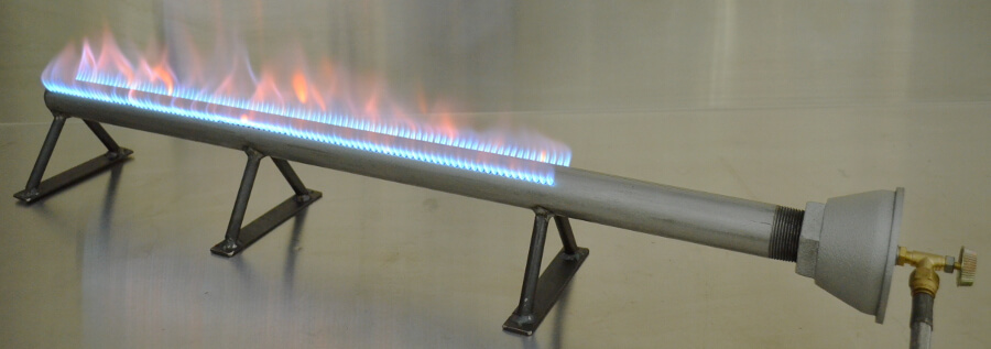Straight Pipe Burner with Legs and CVO250