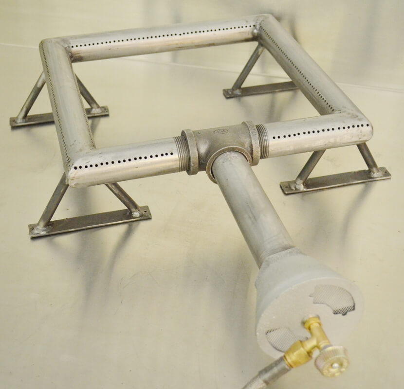 Square Pipe Burner with Optional Support Legs and CVO250