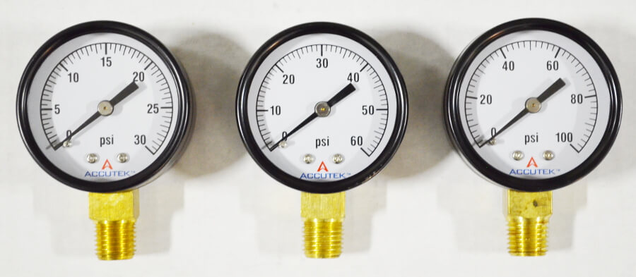 Pressure Gauge with 1/4in Male NPT
