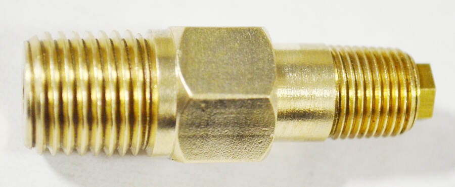 Male NPT x Male NPT 180°  Orifice Fitting  Size #61