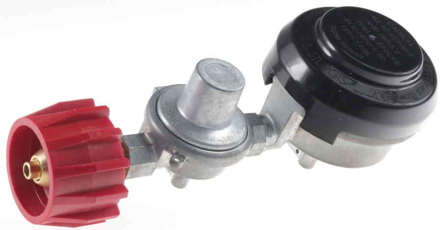 Twin Stage Low Pressure Regulator with Optional Red Acme Safety Tank Connector