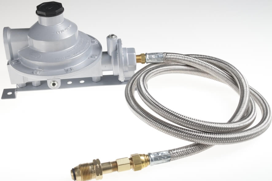 GR9412 - Low Pressure Twin Stage Regulator with SS Hose