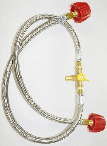 Manual Tank Changeover Valve Assembly for High Pressure with Stainless Steel Overbraid Hoses
