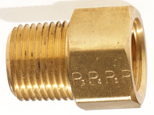 Female SAE Gas Flare x Male NPT 180° Brass Adapter
