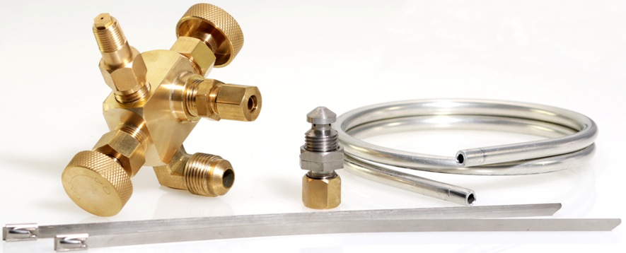 dual brass needle valve pilot light assembly